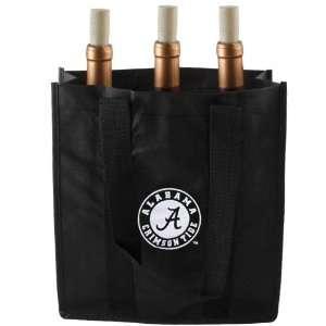 Alabama Crimson Tide Black Reusable Beverage Tote Bag