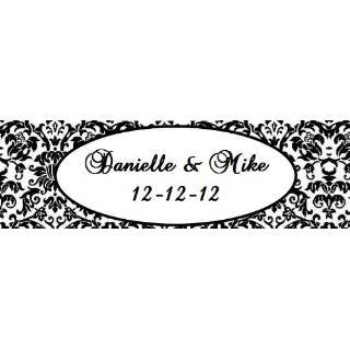 20 Damask Themed Waterproof Water Bottle Labels / Stickers for wedding