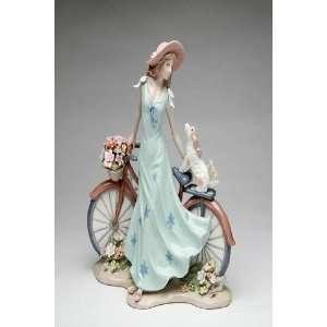 Lady in Long Blue Dress Riding Bike with My Best Friend