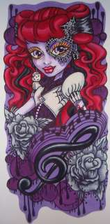 Wallpaper Decor Sticker Monster High Doll Operetta Mural OOAK ART