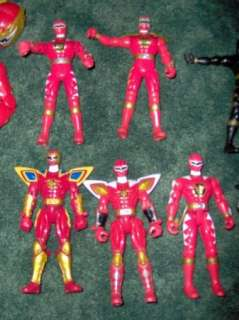 HUGE LOT POWER RANGERS DINO THUNDER ACTION FIGURES NICE