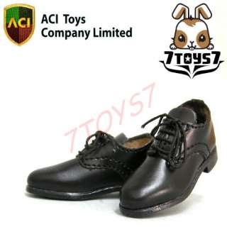 ACI Toys 1/6 Men in Suit v1Black Dress Shoes AT007C