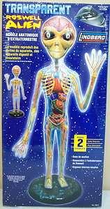 Lindberg TRANSPARENT ROSWELL ALIEN Anatomy Model Kit 76014