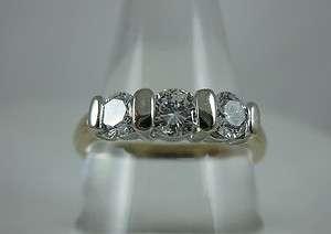 . SI1 G H DIAMOND 14k Yellow Gold Ladies Engagement Anniversary Ring