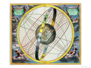 Map Charting the Orbit of the Moon Around the Earth Giclee Print by