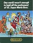 VS SUPER MARIO BROS VIDEO ARCADE GAME SALES FLYER BROCHURE 1986 SCARCE