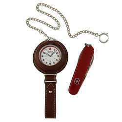 Swiss Army Pocket Watch with Tinker Swiss Army Knife Gift Set