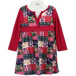 Laura Ashley Toddler Girls Patchwork Dress