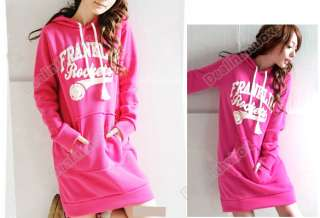Korea Fashion Women Hoodies Sweatshirt Long Tops Outerwear Tracksuits