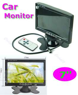 TFT LCD Color Display Car Rearview Headrest Monitor DVD VCR Reversing