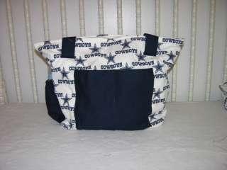 NEW BABY DIAPER BAG MADE/W DALLAS COWBOYS FABRIC