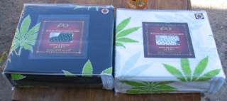 FULL REGAL COMFORT 6 PC MARIJUANA LEAF BED SHEET SET