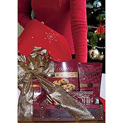 Cherry Wood Christmas Trunk Gift Basket