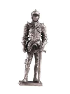 MEDIEVAL KNIGHTS PEWTER ROYAL SENTINEL SUIT OF ARMOR