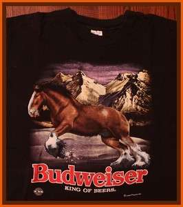 Rare True Vintage 93 Budweiser Beer Brewery T Shirt XL