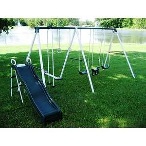 Flexible Flyer Super Slide N Fun Six Leg Metal Swing Set