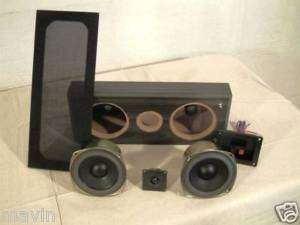 Center Channel Kit with Black Cabinet Boston Woofers