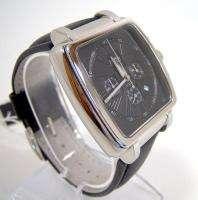 HUGO BOSS Mens Black Leather Chronograph Strap Watch 1512064 NWT $450