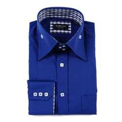 Domani Mens French Blue Cotton Dress Shirt