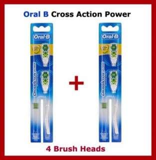 Oral B Cross Action Power Whitening 4 Brush Heads