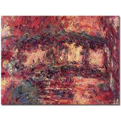 Claude Monet Japanese Bridge at Giverny 1923 Canvas Art