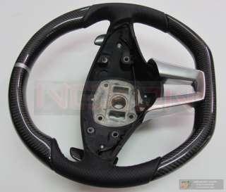 Mercedes SLS63 AMG Custom Carbon Silver Ring Steering Wheel+Carbon