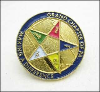 EASTERN STAR Masonic Mason PIN Vintage Grand Chapter PA