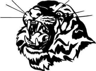 Tiger Head Large Vinyl Decal Car Truck Window Sticker 1 |