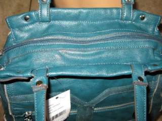 NWT Kathy Van Zeeland Mod Hipster Tote Hand Bag Purse Mallard Green $