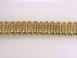 Diamond 5.00ct Yellow Gold Ladies Tennis Bracelet Jewelry