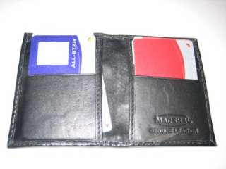 High Quality THIN Black Cow Hide Leather Credit Card Holder