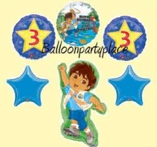 DIEGO PARTY SUPPLIES birthday 3rd BALLOONS THIRD DORA