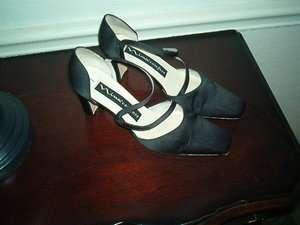 NINA COMFORT WOMENS SIZE 7 DRESS SHOES/HEELS/PUMPS BLACK SATIN