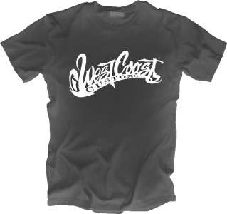 USA WEST COAST CUSTOMS T SHIRT All Sizes and Styles
