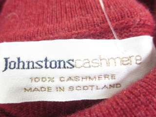 JOHNSTONS CASHMERE Red Turtle Neck Sweater Sz S