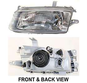 Headlamp New With Bulbs Clear lens LH Halogen Left Driver Side Hand