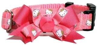 Hello Kitty Tiny Pink Dog Collar w/BOW