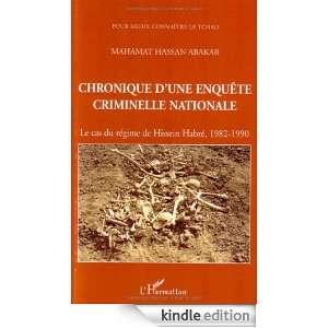 Chronique dune enquête criminelle nationale : Le cas du régime de