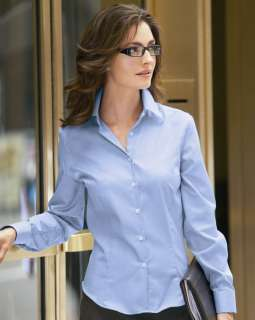 Van Heusen Ladies Wrinkle Free Royal Oxford Dress Shirt S 2XL
