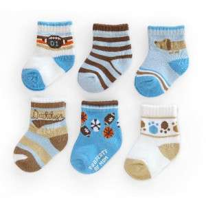 CARTERS 6 Pack Boys Sport Comfy Fit Socks sz 12 24 Mos