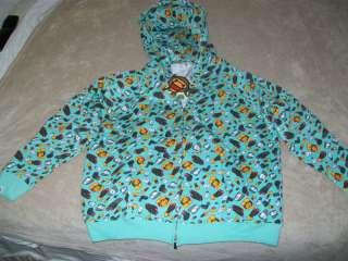 NWT BAPE BABY MILO Hoodie Sweatshirt top Jacket 3X