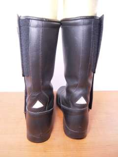 Vintage FIRSTGEAR Black Leather 12 Motorcycle Riding Boots 42 US 9