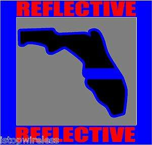 THIN BLUE LINE POLICE FLORIDA DECAL STICKER 4