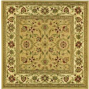 Lyndhurst Collection LNH212D Beige and Ivory Square Area Rug, 6 Feet