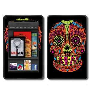 Kindle Fire Skins Kit   Sugar Skull Dia de los Muertos Day of