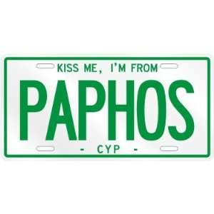 NEW  KISS ME , I AM FROM PAPHOS  CYPRUS LICENSE PLATE