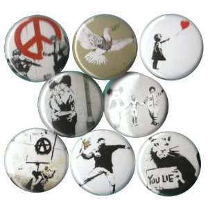 Banksy Buttons Pins Badges