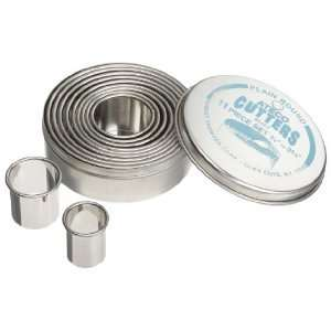 Ateco 11 Piece Stainless Steel Round Cookie Cutter Set
