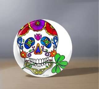 DAY OF THE DEAD SUGAR SKULL HAND POCKET MIRROR