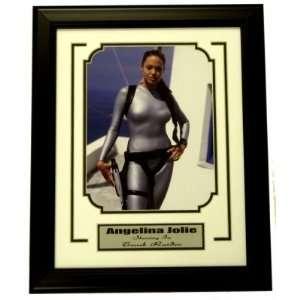 Angelina Jolie Tomb Raider 8x10 Framed w/Plate Angelina Jolie